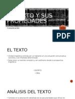 El Texto y Sus Propiedades