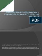 Evaluación de Inteligencias Múltiples