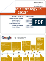 Google Strategy in 2013 - Strategic Management Case
