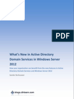 Whats New in ADDS in Windows Server 2012 Whitepaper