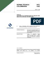 NTC1503 Factores de Contracción de Suelos Por Medio Del Método de Mercurio