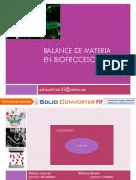 Balance de Materia en Bioprocesos
