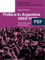 [David Rock] Politics in Argentina, 1890-1930