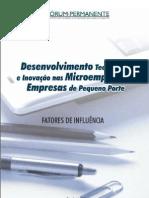 Desenvolvimento Tecnológico e Inovação nas Microempresas e Empresas de Pequeno Porte