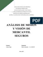 Anàlisis de Misiòn y Visiòn de Seguros Mercantil