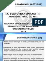 AET1101 Pertemuan X Evapotranspirasi (1)