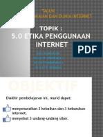 Kumpulan 5 Etika Internet