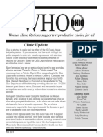 WHO/O Fall 2014 Newsletter
