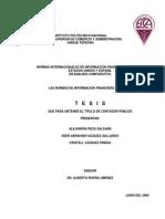 Normas de Informacion Nif 2009