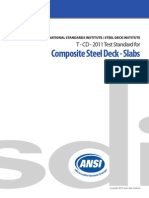 SDI ANSI T-CD-2011 Composite Steel Deck-slabs