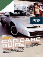 Car Care Guide - Popular Mechanics - May 1982