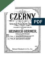 63727501 Czerny Selected Pianoforte Studies Book I Part I II Edition Germer