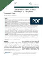 Preven. Effect of Atorvastatin in AF METAANALISI