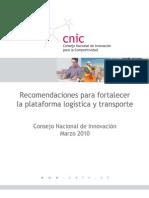 DT Recomendaciones Fortalecer Plataforma Logistica Transporte