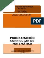 01 - Programacion de Matematica - 1º -2014