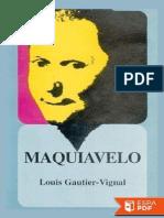 Maquiavelo - Louis Gautier-Vignal