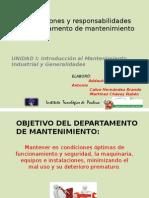 Funciones y Responsabilidades de La Administración de Mantenimiento1