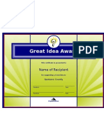 Award Template Pdr 2 Power