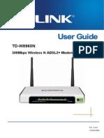 TD-W8960N V3 User Guide