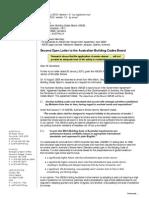 Australian Building Codes Board (ABCB) Open Letter 2