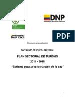 Plan Sectorial de Turismo 2014-2018 16 de Septiembre de 2014