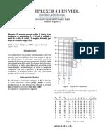 Multiplexor 8 a 1 VHDL
