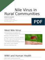 West Nile Virus in Rural Communities