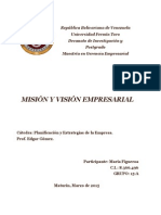 Misión y Visión Empresarial