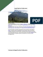 Gunung Tertinggi Dipulau Kalimantan