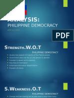 Agri 111 Swot-philippine Democracy
