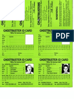 Ghostbusters RPG - Item Cards 2
