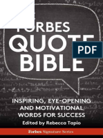 The Forbes Quote Bible Inspiring Eye Opening and Motivational Words Fo