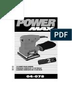 Pad Sander Manual