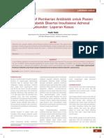 Audit Kualitatif Pemberian Antibiotik Untuk Pasien Gangren Diabetik Disertai Insufi Siensi Adrenal