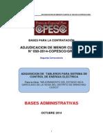 Bases Adquisicion de Tableros Para Sistema de Control de Energia Electrica