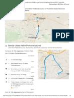 Bandar Udara Halim Perdanakusuma Ke Pusdiklat Badan Nasional Penanggulangan Bencana (BNPB) - Google Maps