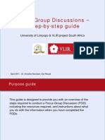 Focus Group Discussion Step by Step Guide