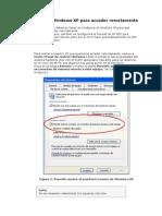 Configurar el Windows XP para acceder remotamente.doc