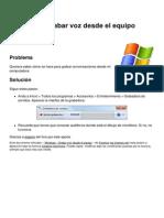 Windows Grabar Voz Desde El Equipo 6266 Lip9lf