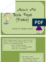 All About Me Book Freebie