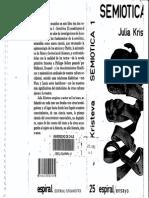 Julia Kristeva Semiotica I