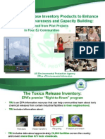 New Toxic Release Inventory Products to Enhance Community Awareness and Capacity Building