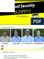 Cloud Security for Dummies Webinar