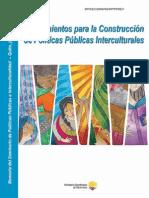 lineamientos para políticas públicas interculturales