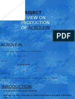 Project Review on Production of Acrolein