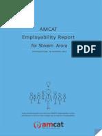 AMCAT Detailed result report