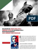 Declaración de Solidaridad con Venezuela