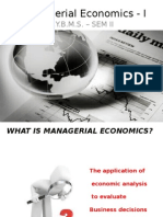 Managerial Economics - I