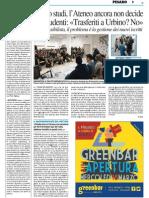 Pesaro Studi, l'Ateneo ancora non decide - Il Resto del Carlino del 13 marzo 2015