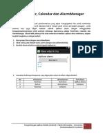 TimePicker, AlarmManager, Calendar.pdf